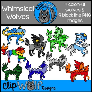 Wolf Clip Art: Personal and Commercial Use