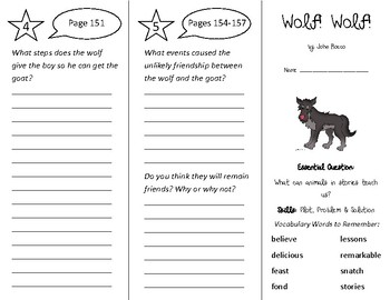 Wolf Wolf Trifold - Wonders 2nd Grade Unit 2 Week 2