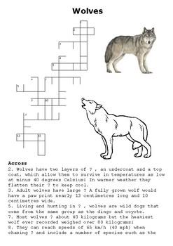 Wolves Crossword