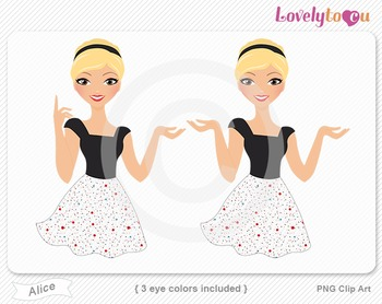 Woman character avatar 2 pack PNG clip art (Alice B19)