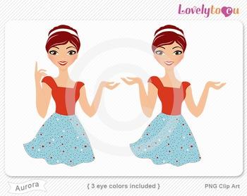 Woman character avatar 2 pack PNG clip art (Aurora B19)