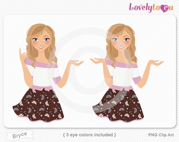 Woman character avatar 2 pack PNG clip art (Bryce B50)