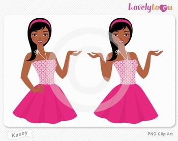 Woman character avatar 2 pack PNG clip art (Kacey B49)