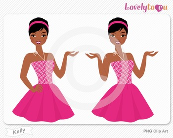 Woman character avatar 2 pack PNG clip art (Kelly B49)