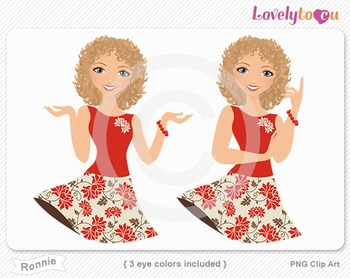 Woman character avatar 2 pack PNG clip art (Ronnie B23)
