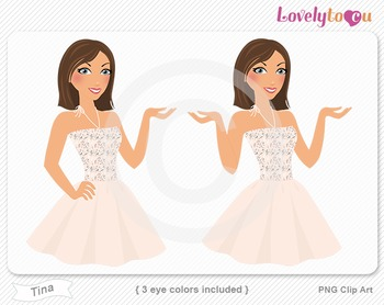 Woman character avatar 2 pack PNG clip art (Tina B47)