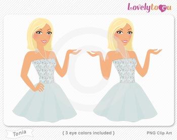 Woman character avatar 2 pack PNG clip art (Tonia B47)
