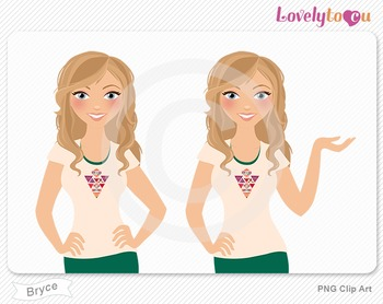 Woman character avatar 2 pack PNG clip art (Bryce B40)