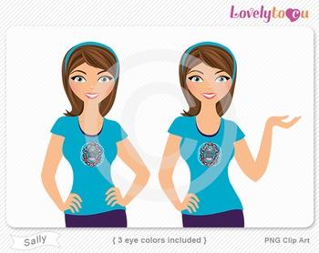 Woman character avatar 2 pack PNG clip art (Sally B41)