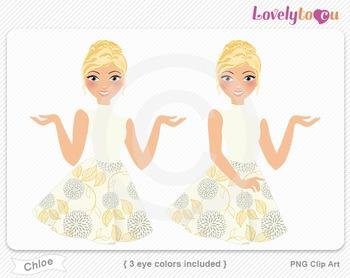Woman character avatar pack PNG clip art (Chloe B14)