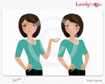 Woman character avatar pack PNG clip art (Danni B25)