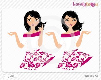 Woman character avatar pack PNG clip art (Jazz B17)