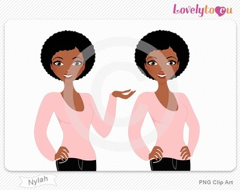 Woman character avatar pack PNG clip art (Nylah B28)