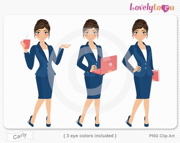 Woman graphics character pack set PNG clip art (Carly R10)