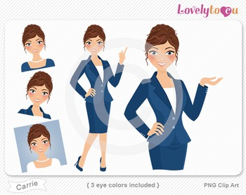 Woman graphics character pack set PNG clip art (Carrie R09)