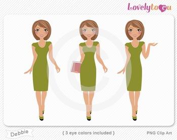 Woman graphics character pack set PNG clip art (Debbie R08)