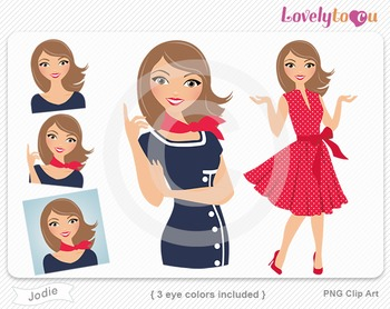 Woman graphics character pack set PNG clip art (Jodie R05)