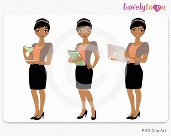 Woman teacher graphics character set PNG clip art (Amara R02)