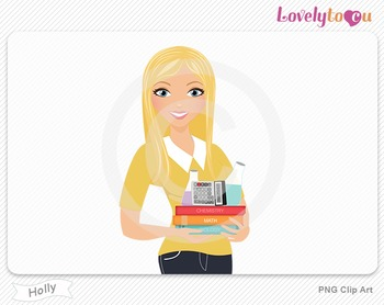 Woman teacher of math and science PNG clip art (Holly 598)