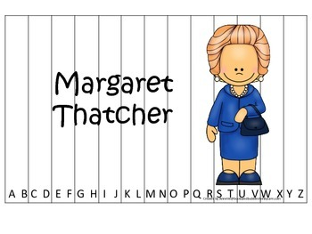 Women History Margaret Thatcher themed Alphabet Sequence P