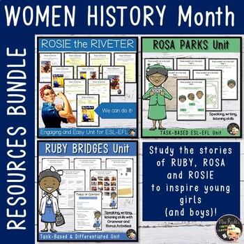 Women History Month - ESL Worksheets Bundle