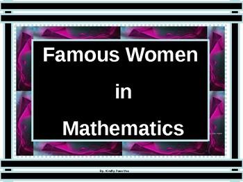 Math Lab:  Famous Women  in Mathematics
