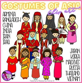 Asian costumes Clip Art