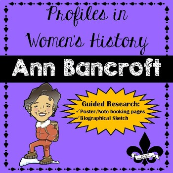 Women's History Guided Research Activity: Ann Bancroft