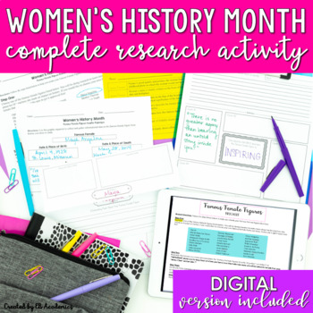 Women's History Month Activity and Mini-Unit for Middle School
