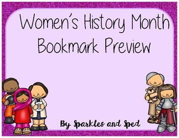 Women's History Month Bookmark preview