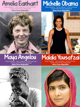 Women's History Month Bundle {40 Pages for Close Reading &