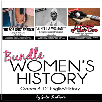 Women's History Month English Lessons for Teens, Themed Un