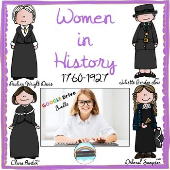 Women's History Month Close Read and Writing: GOOGLE DRIVE BUNDLE