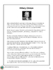 Women's History Month: Reading Passage - Hillary Clinton