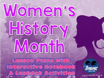 Women's History Month Lesson Plans with Interactive Notebo