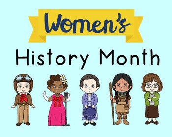 Women's History Month Poster, Class Decor, Holiday Sign, B