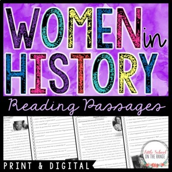 Women's History Month Reading Comprehension Passages