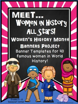 Women's History Month Report Banners