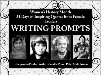 Women's History Month Writing Prompts