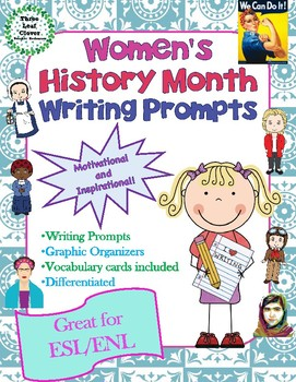 Women's History Month Writing Prompts and Graphic Organize