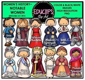 Women's History – Notable Women Clip Art Bundle