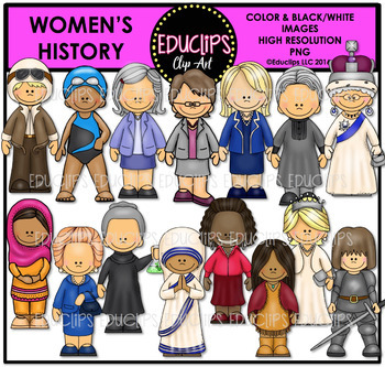 Women's History Clip Art Bundle