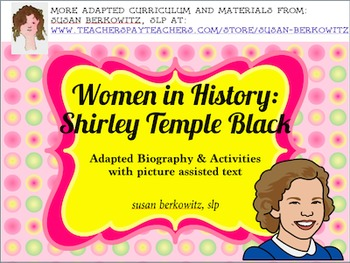Women's History Month Adapted Biography Shirley Temple Bla