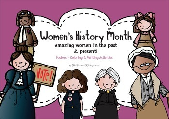 Women's History Month - Amazing Women Posters Coloring and