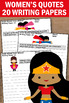 Women's History Month Quotes Superhero Themed Writing Pape