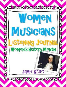 Women's History Month:Women Musicians Listening Journal FREEBIE!