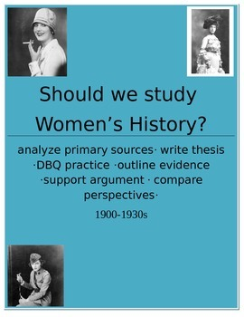 Women's History Primary Source Activity