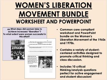 Women's Liberation Movement Bundle - US History/APUSH Common Core