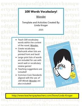 Wonder:R.J. Palacio-100 Words Flashcards, Quizzes, Word Wa