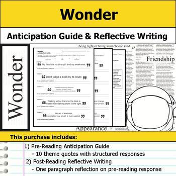 Wonder - Anticipation Guide & Reflection Writing